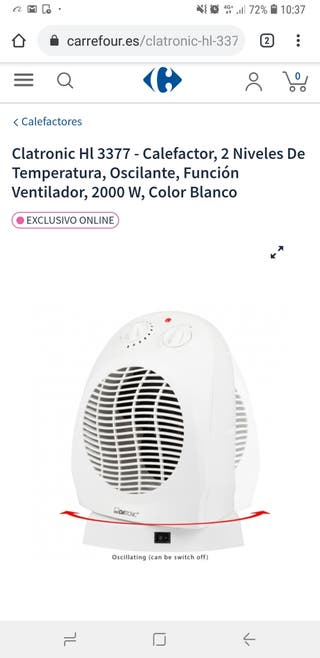 Clatronic Calefactor Hl 3377
