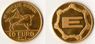 1966 Italia, 10 Euros de oro - Moneda/Medalla