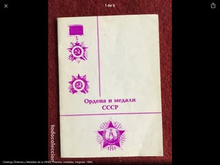 Catálogo Órdenes Medallas insignias URSS 1924-1988
