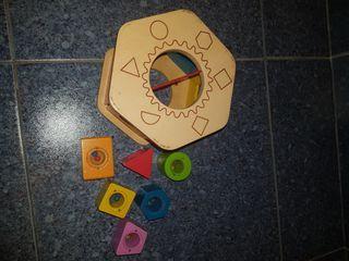 cubo piezas madera