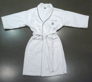 Peignoir Blanc kimono - col châle Harry Winston