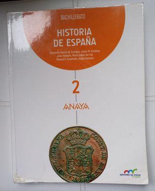 Libro Historia de España Bachillerato 2