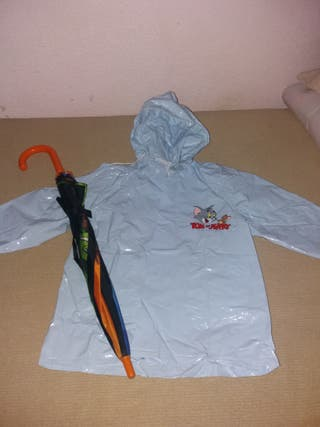 IMPERMEABLE Y PARAGUAS TOM Y JERRY