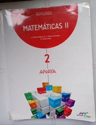 Libro Matemáticas || Bachillerato