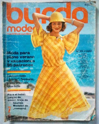 9 revistas burda moden año 1970-1993
