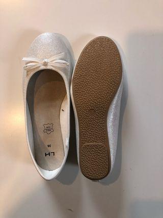 Manoletinas/Bailarinas blancas T.36