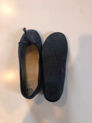 Manoletina/Bailarina azul marino T.36
