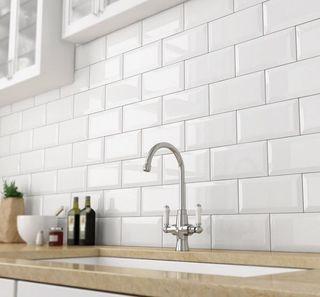 Azulejo 20x10 biselado blanco 1calidad