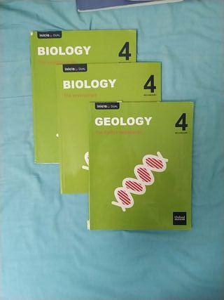 Libros de Biología y Geología 4ESO OXFORD EDICATIO
