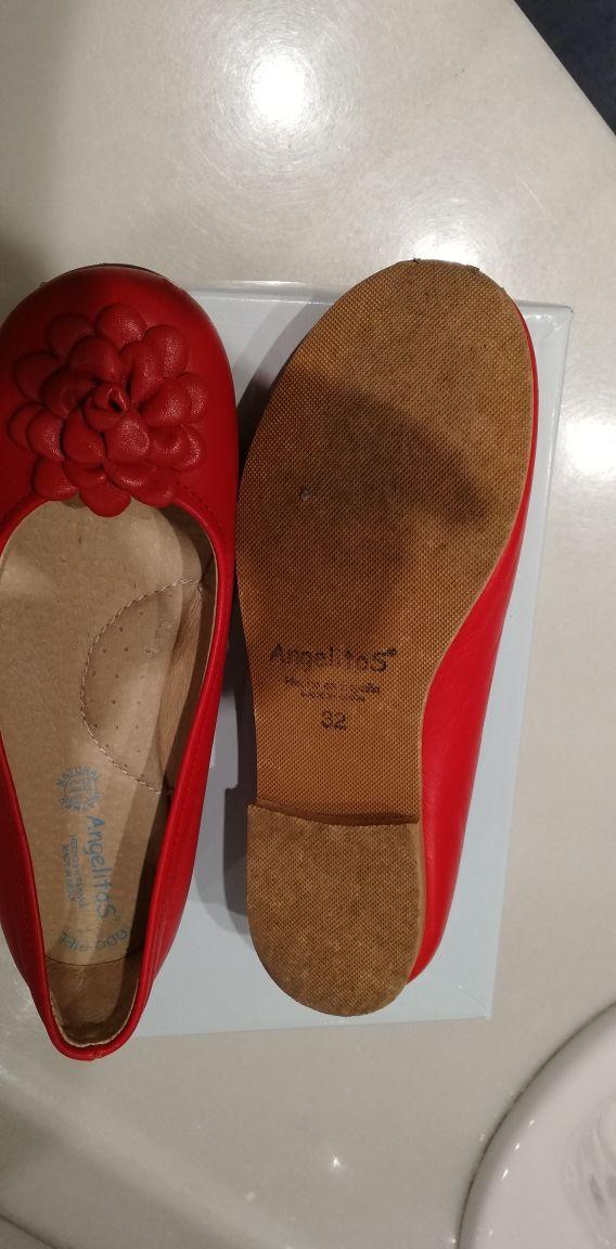 Zapatos angelitos una vez puestos