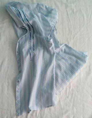Camisa manga corta de mujer, a rayas verticales