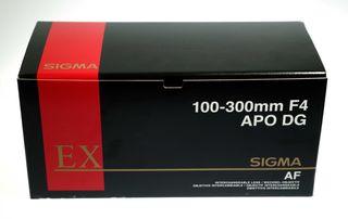 Sigma 100-300mm F4 EX APO IF DG HSM montura Nikon