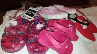 zapatillas y sandalias de bebé niña