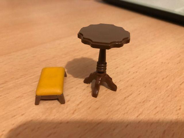 Playmobil lote mesa y banquito victoriano