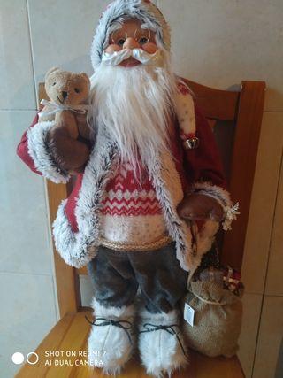 Papa Noel. Navidad. reyes. 65 cm alto.