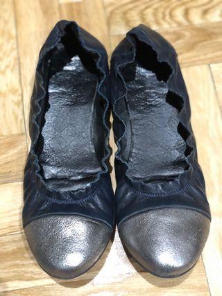 Bailarinas azul marino,poco uso,talla39