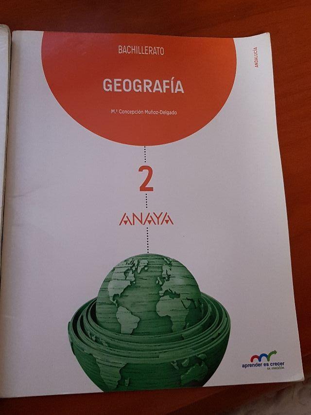 Libro geografía Anaya 2 bachillerato