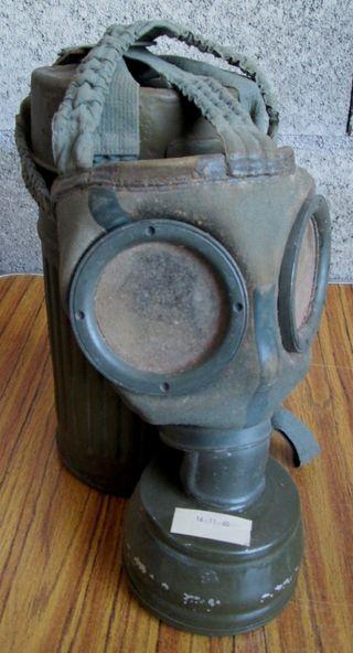 Máscara de gas alemana Con repuesto de lentes
