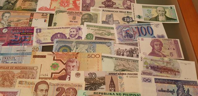 lote 35 billetes de todo el mundo