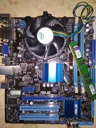 Placa base ASUS con intel Dual Core E5400 2Gb DDR3