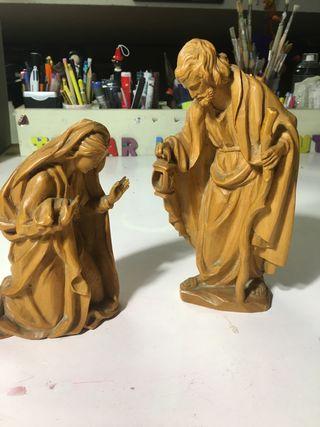 Talla de San José y Virjen Maria
