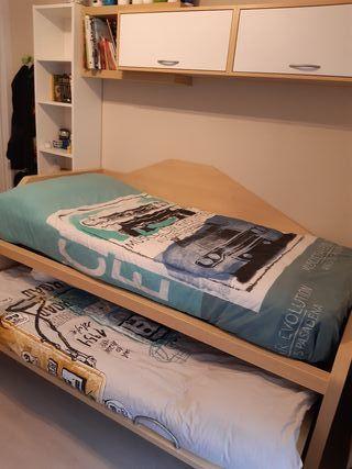 Habitacion juvenil con cama nido