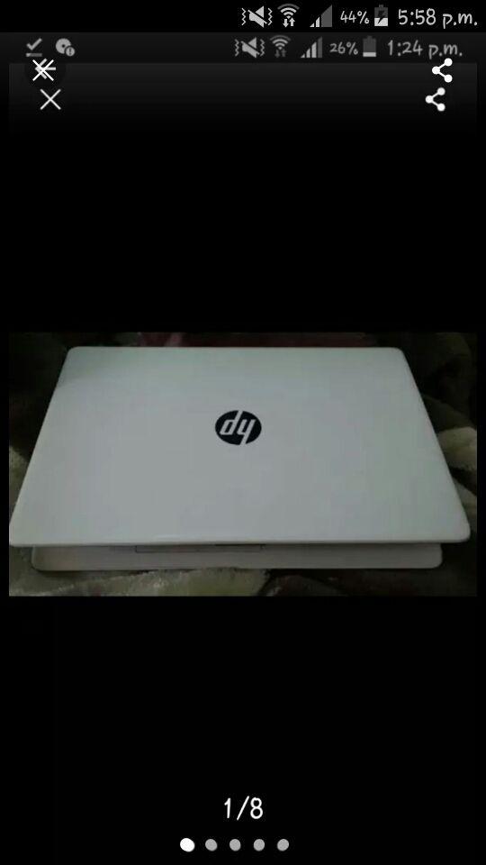 White HP Laptop, 1TB, 4GB RAM, Win10