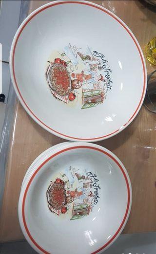 juego platos para pasta