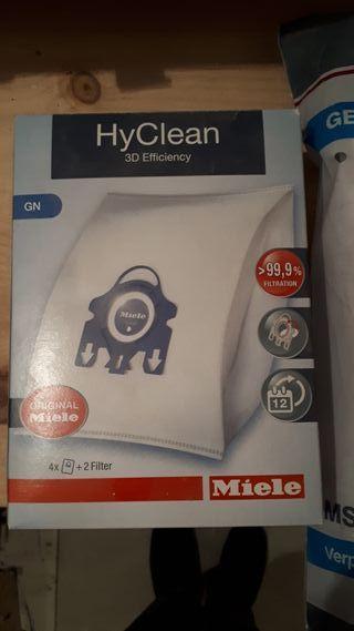 16 bolsas HyClean aspiradora Miele GN