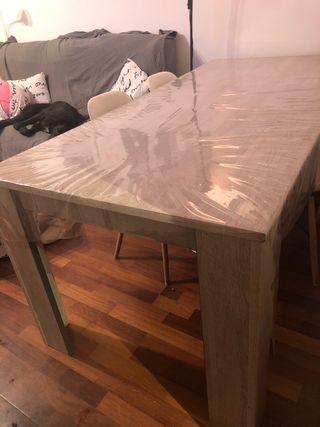 Mesa comedor madera gris 190cm