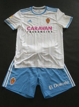 camiseta match worn real Zaragoza Pombo 2019
