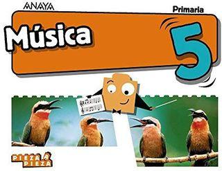 NUEVO a ESTRENAR Libro de música 5 Anaya