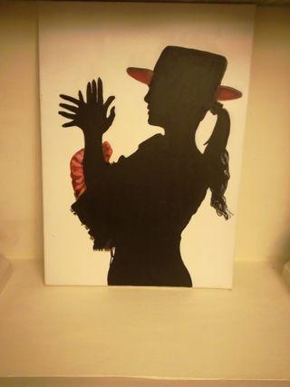 cuadro moderno pintado a mano