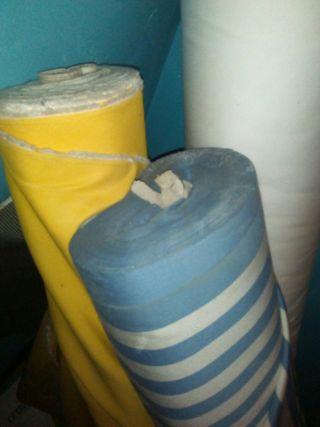 lonas i telas rollo 25€la unidad
