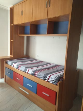 habitación juvenil,cama nido con cajones