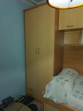 Cama Nido con armario y escritorio