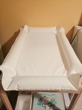 Cambiador bebé hinchable Ikea + funda de algodón