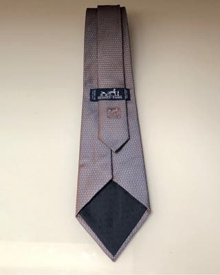 Corbata seda gruesa Hermès