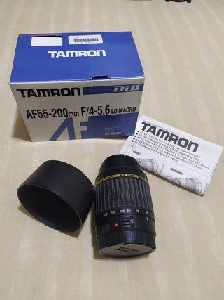 Objetivo teleobjetivo tamron 55-200mm