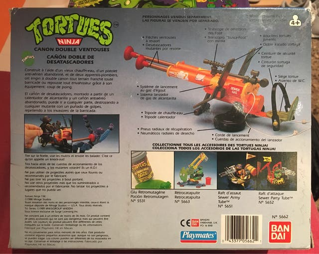 Cañon doble desatascadores Tortugas Ninja