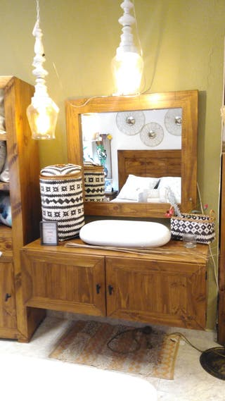 Mueble baño macizo