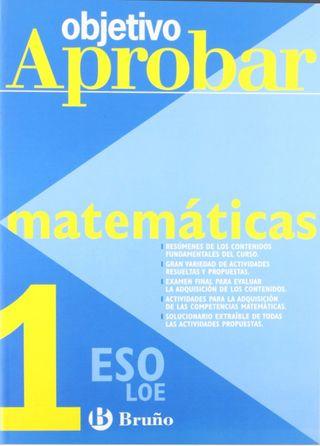 Libro objetivo aprobar matemáticas 1° ESO