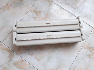 Portarrollos soporte rollo cocina doble plástico
