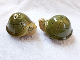NUEVO salero y pimentero tortugas cerámica