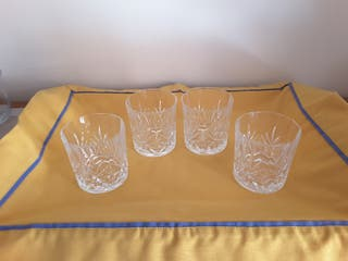 vasos whisky cristal de Bohemia