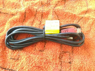 3 Cable de Red negro cruzado