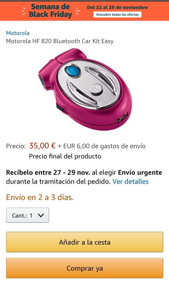 Kit manos libres Motorola Nuevo.