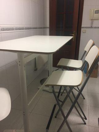 mesa alta y sillas cocina