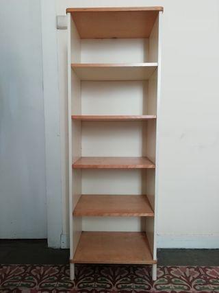 Mueble estantería de madera