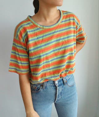 camiseta lineas indie talla L